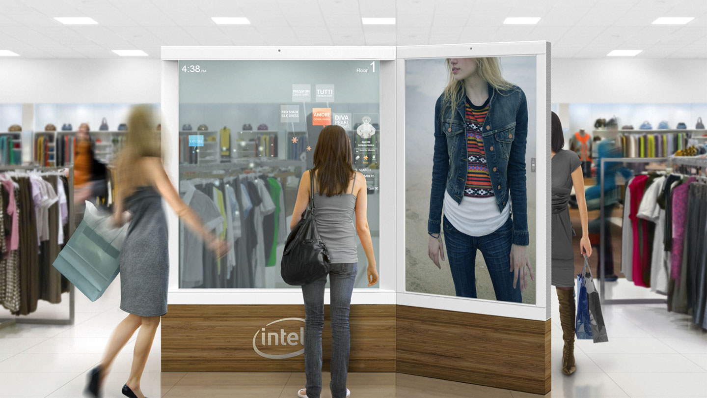 Intel life-size touchscreens to engage customers and improve retail shopping experience