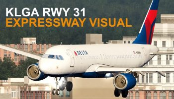 Aerofly FS 2 KLGA Expressway Visual RWY 31 Airbus A320