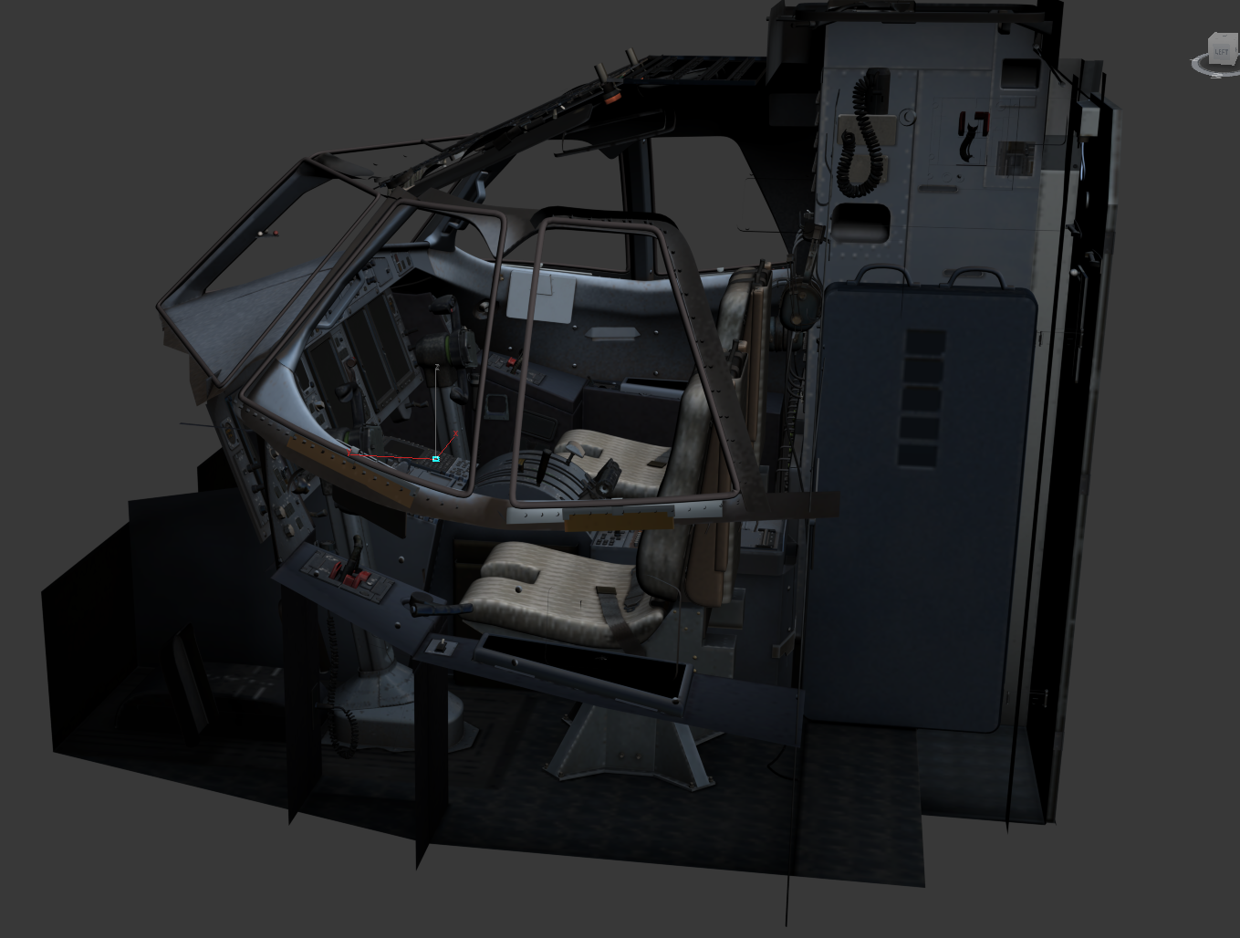 Milviz Post Textured ATR Cockpit Render FSElite