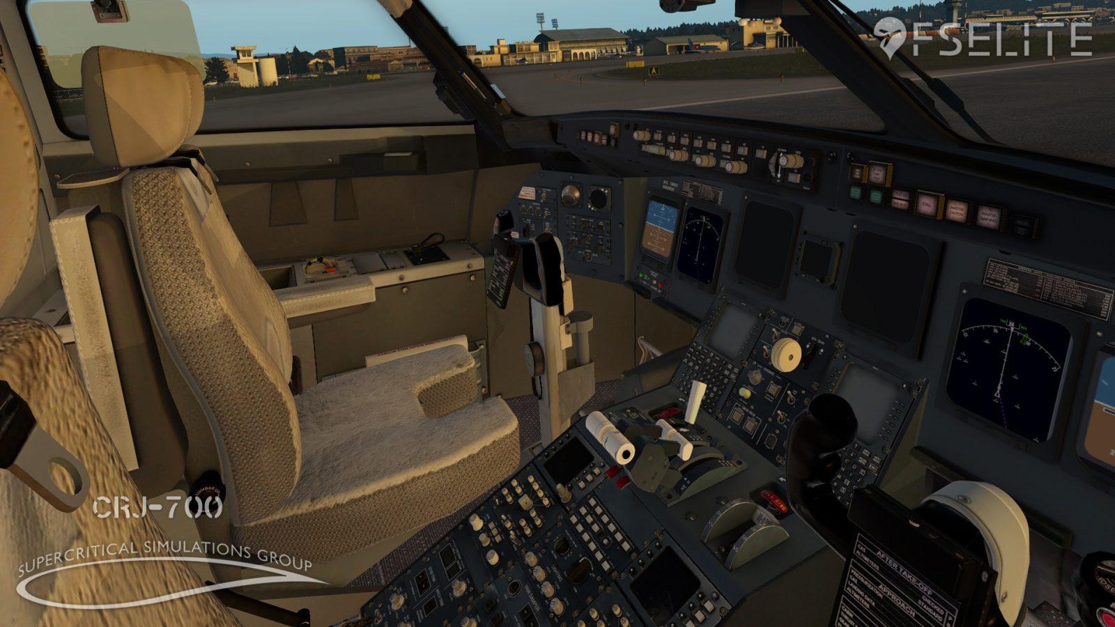 x-plane] FSElite Exclusive: SSG CRJ-700 WIP Cockpit Previews