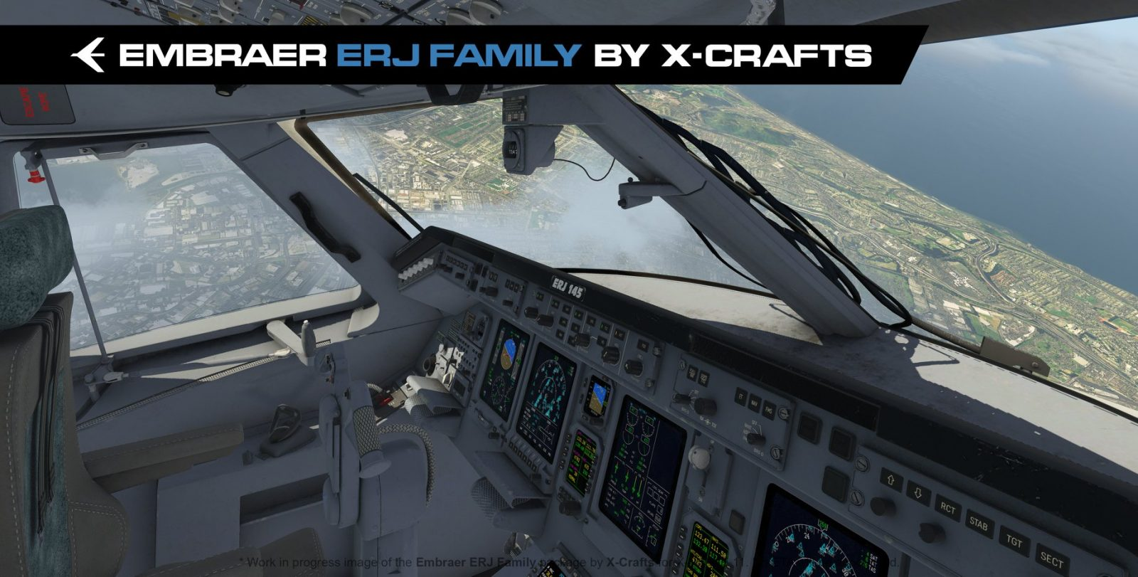 New Previews of X-Crafts' Upcoming Embraer ERJ In X-Plane 11