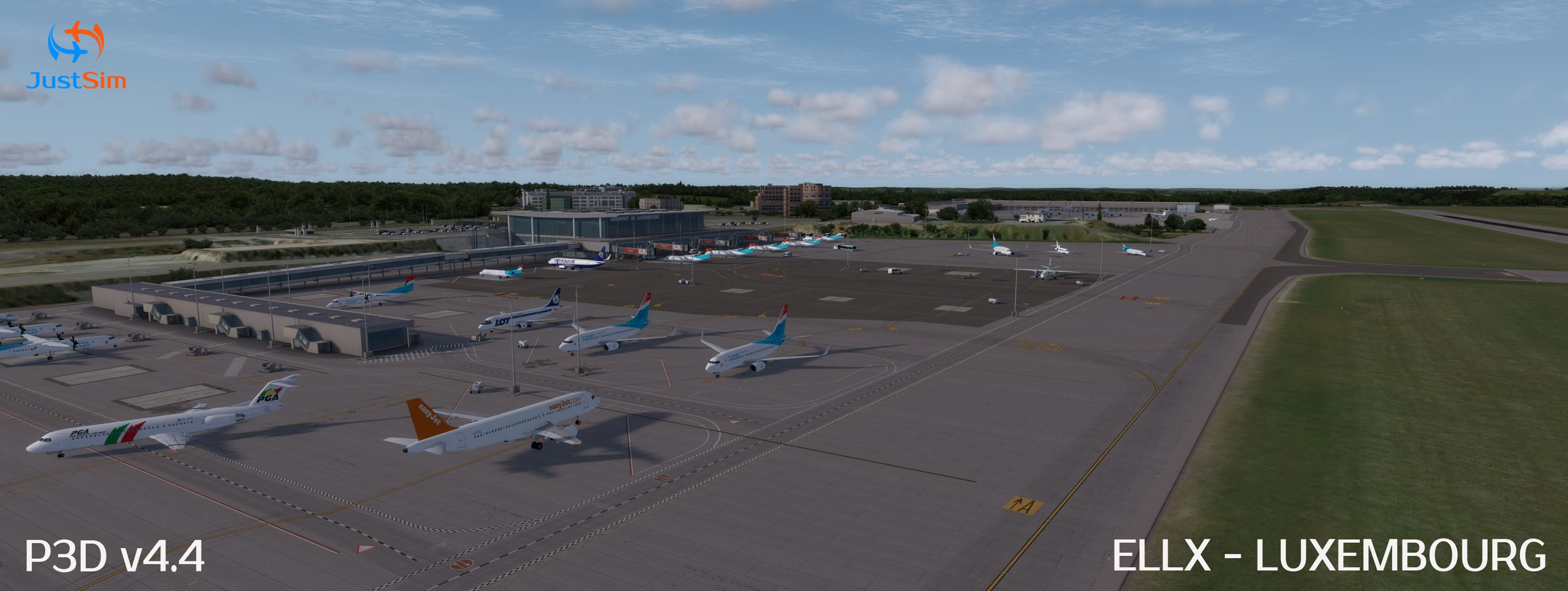 JustSim Update Luxembourg Airport to V2 (P3Dv4) – FSElite