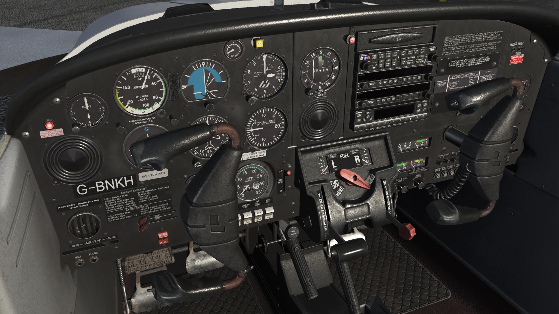 Just Flight Preview PA 38 Tomahawk Cockpit FSElite1
