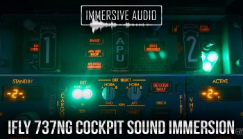 IFly 737NG Cockpit Sound Immersion HD Soundpack FS2004FSXP3D Official Promo