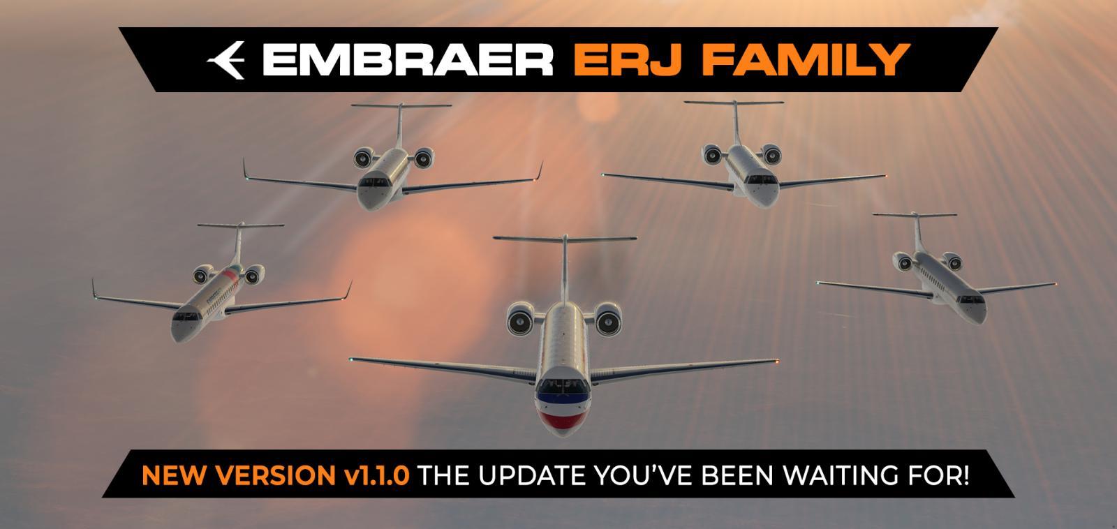 Erj Family Update X Crafts X Plane 11