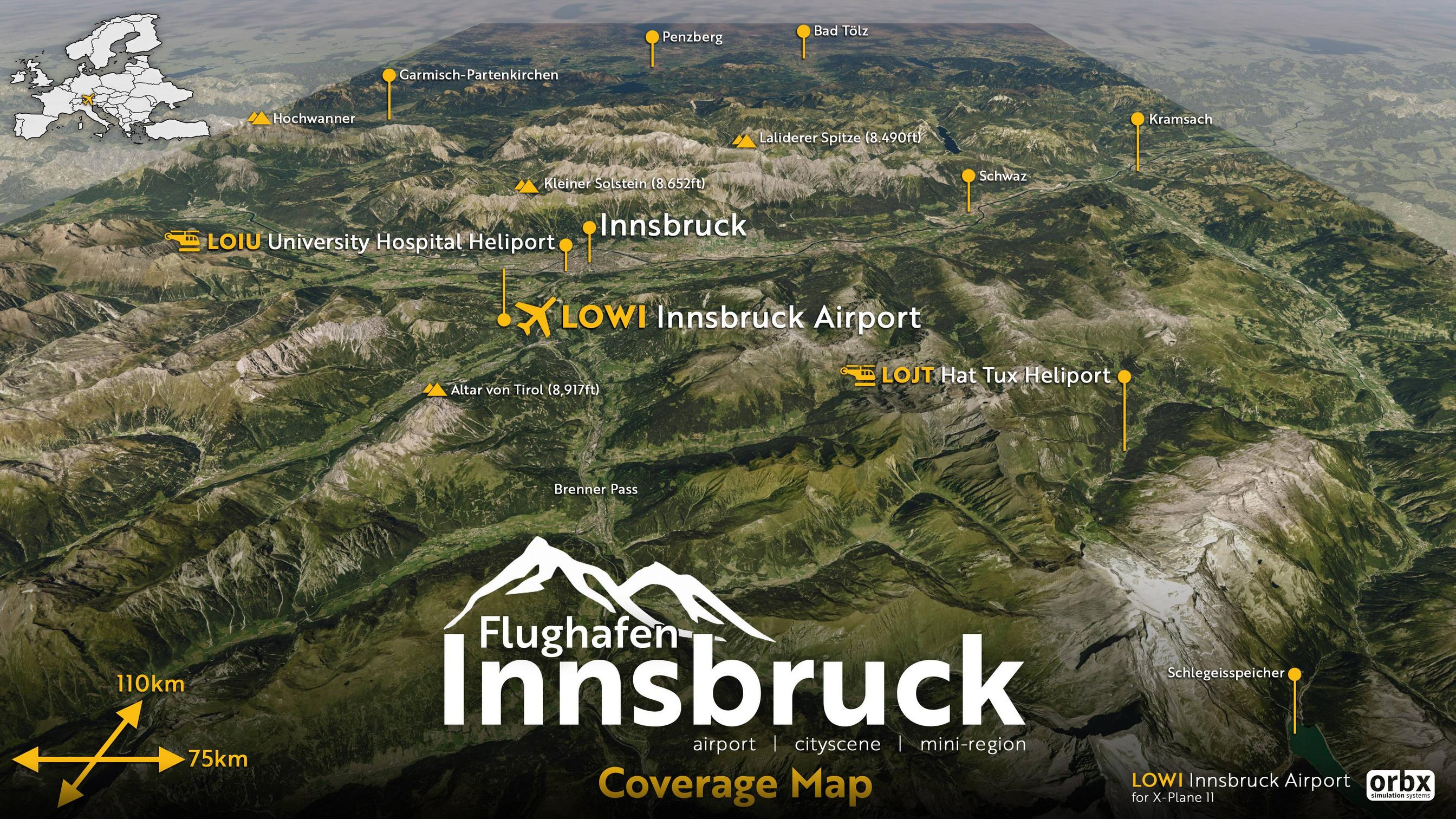 New Previews of Orbx LOWI Innsbruck on X-Plane 11 – FSElite