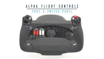 Honeycomb Aeronautical Alpha Flight Controls Yoke Switch Panel