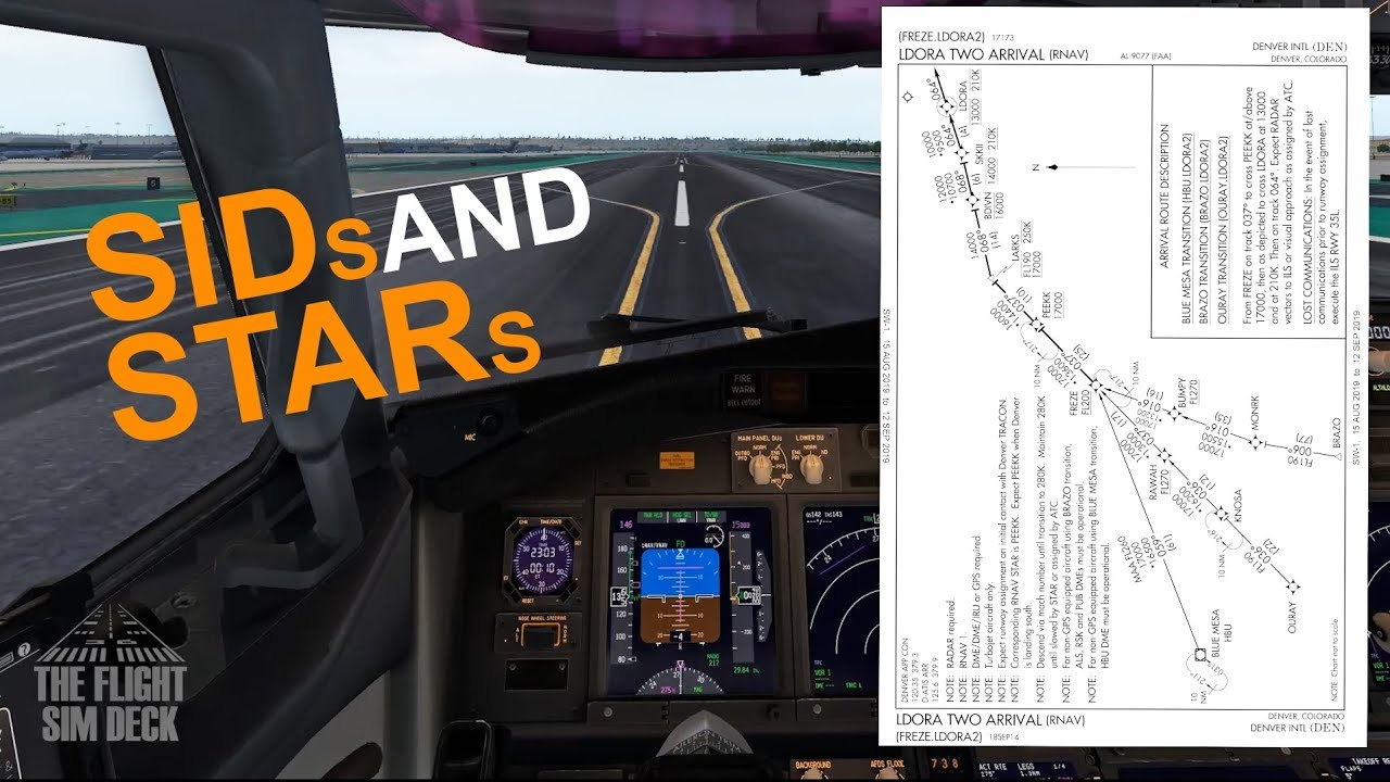 Flight Sim How To Reading SIDs And STARs Obtaining Charts