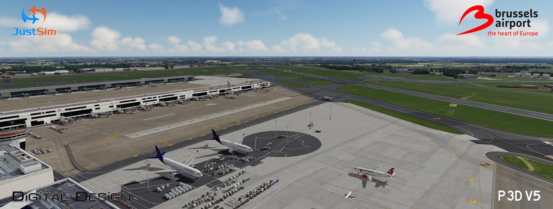 justsim-brussels-2-1-6 JustSim Releases Brussels Airport v2.1 for Prepar3D v5