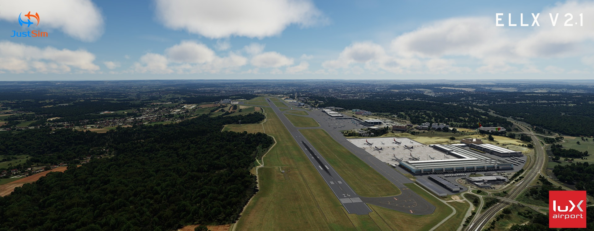 236376_07-07-2020_11-41-58 JustSim Luxembourg Findel Airport V2.1 for P3D Released