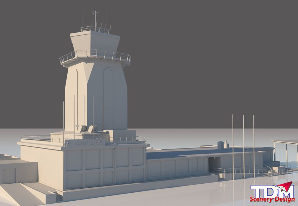Coruna1 TDM Scenery Design Previews A Coruña for P3D