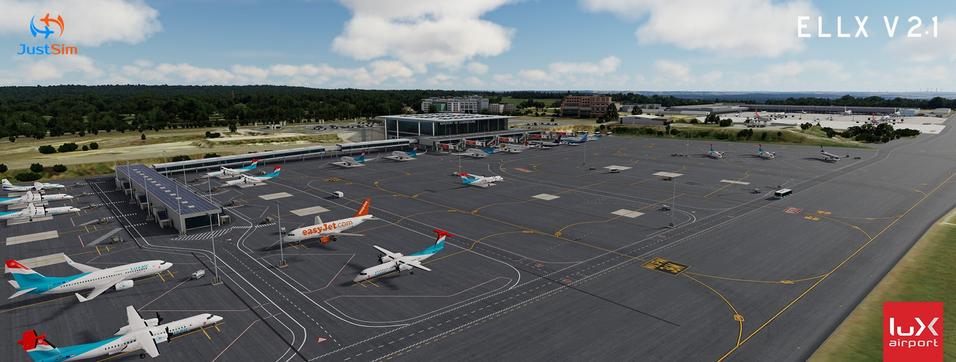 justsim-Luxembourg-Airport-2-2 JustSim Announces and Previews Luxembourg Airport (ELLX) 2.1 for Prepar3D v5