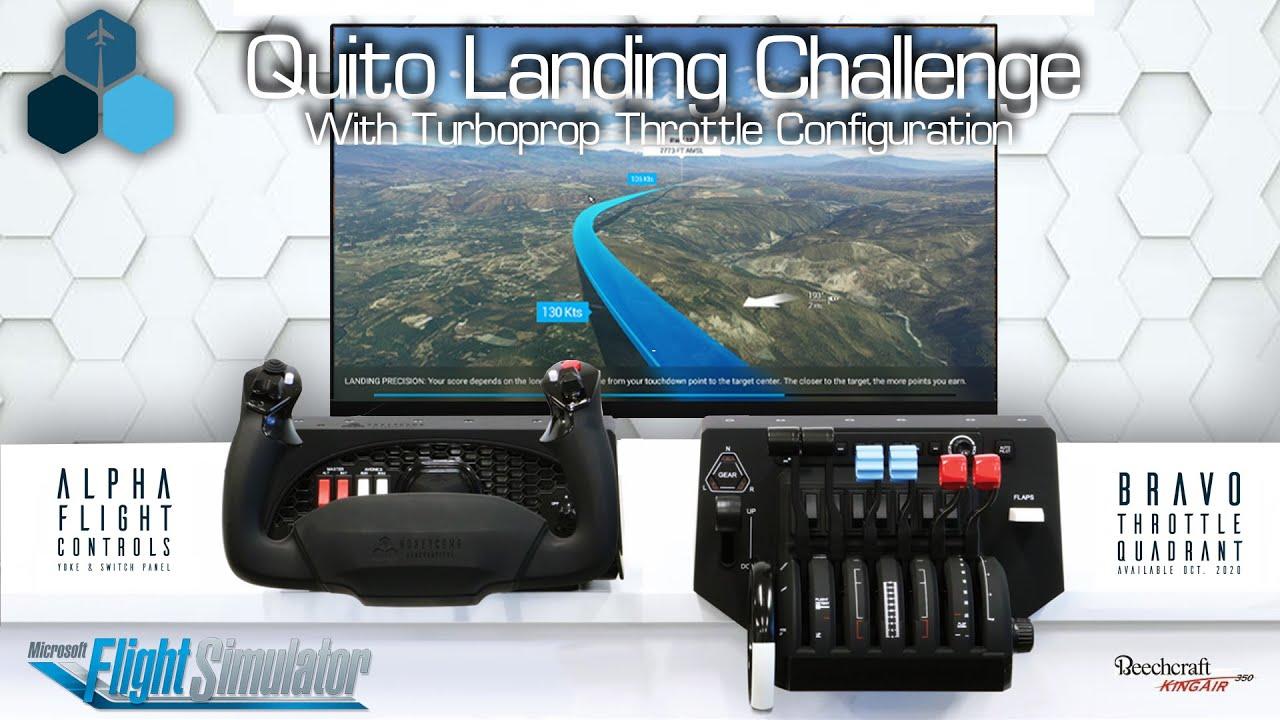 Microsoft-Flight-Simulator-Quito-Landing-Challenge-with-Honeycomb-Yoke-and-Throttle Honeycomb Aeronautical Shows off Bravo Throttle In Action
