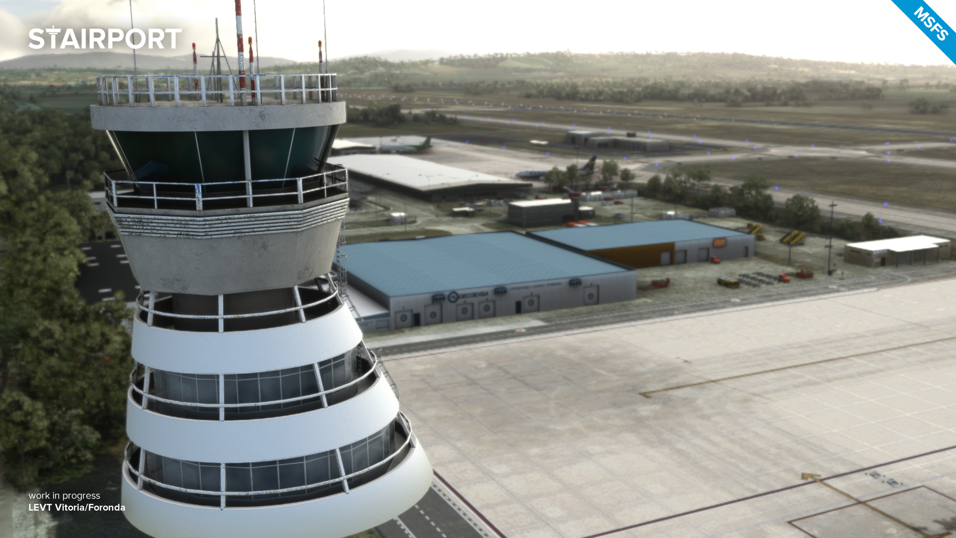 Stairport Sceneries Previews Vitoria Airport for MSFS