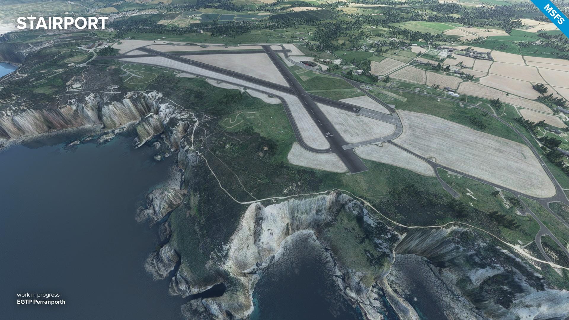 Aerosoft Announces Airfield Perranporth for MSFS