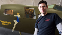 Casey Simmons and The Memphis Belle Gal He Painted.png