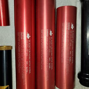 54mm Dr. Rocket casings, writing