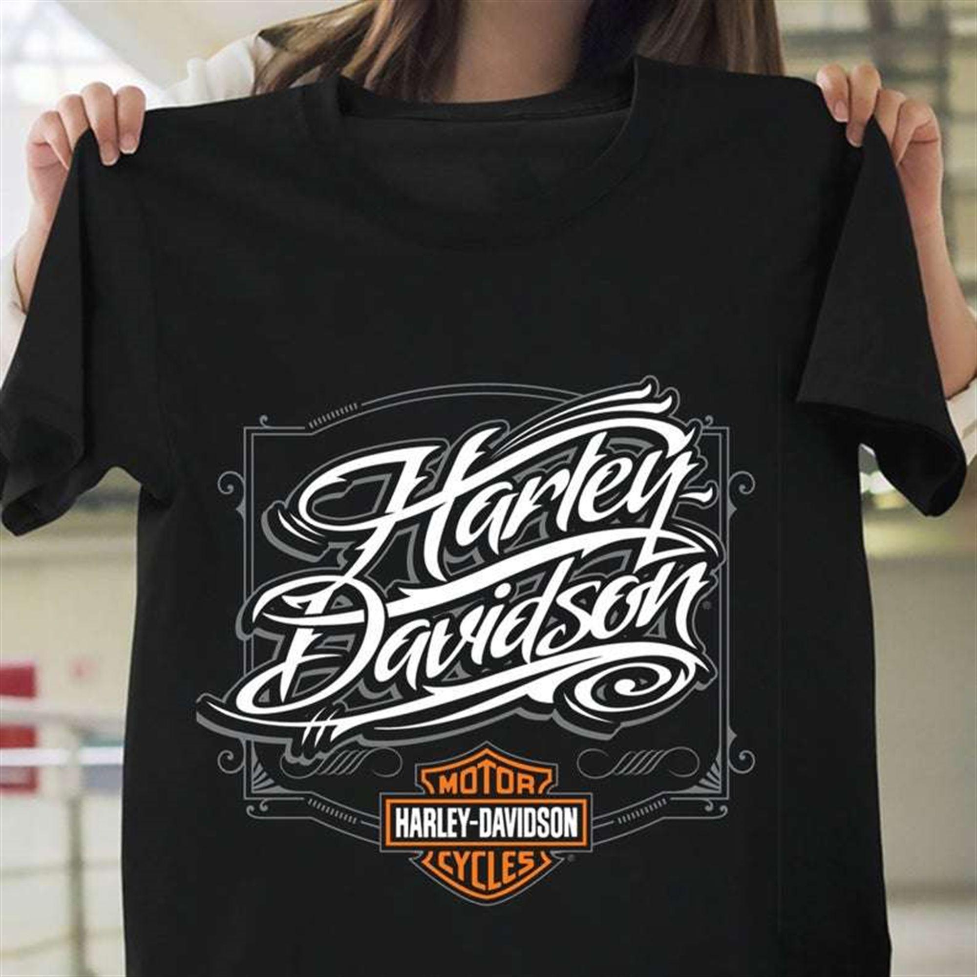 Vintage Harley Davidson T-shirt Size Up To 5xl