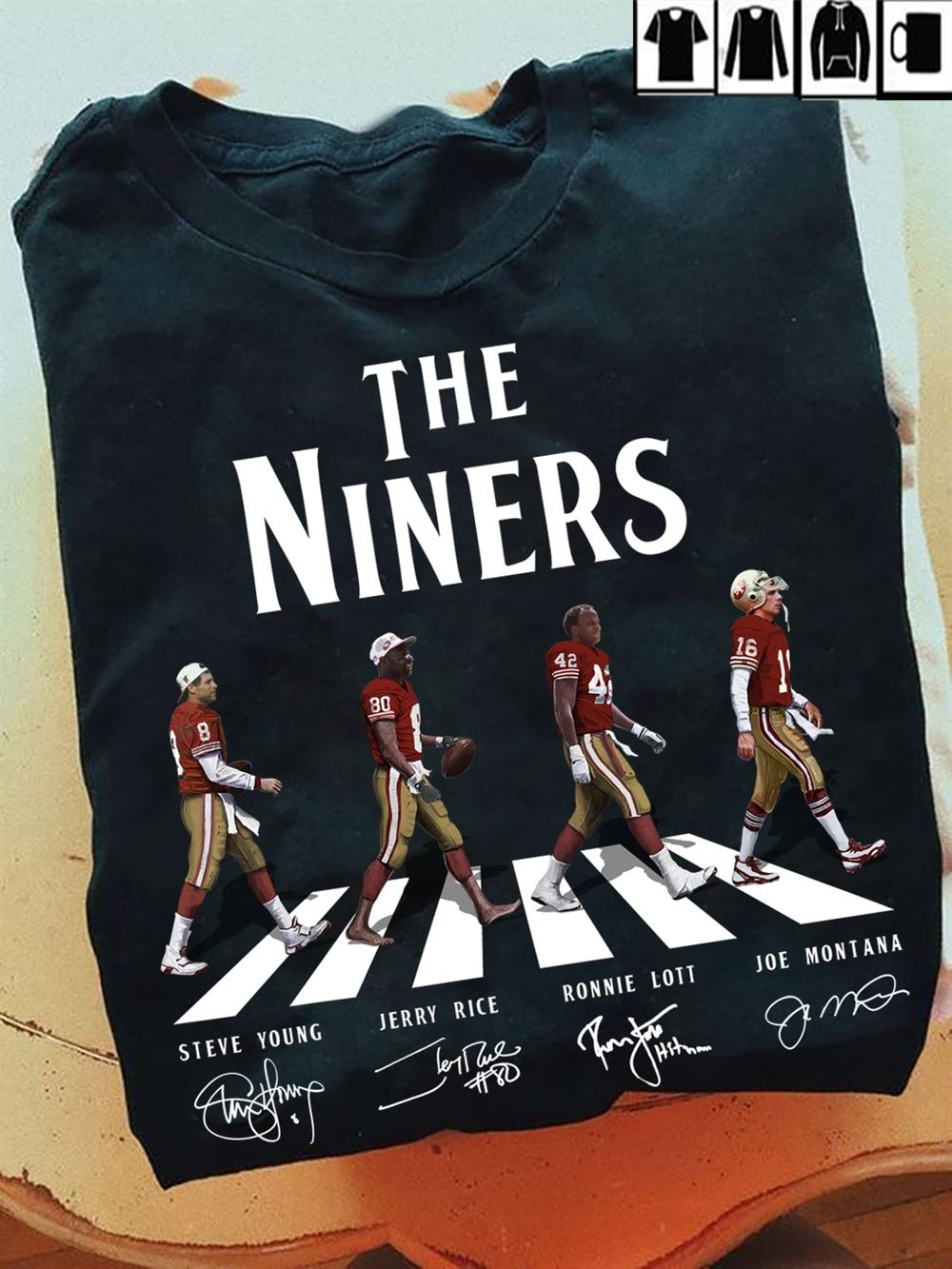 San Francisco 49ers The Niners Signatures The Beatles Abbey Road Graphic T Shirt Hoodie Tank Top Size Up To 5xl
