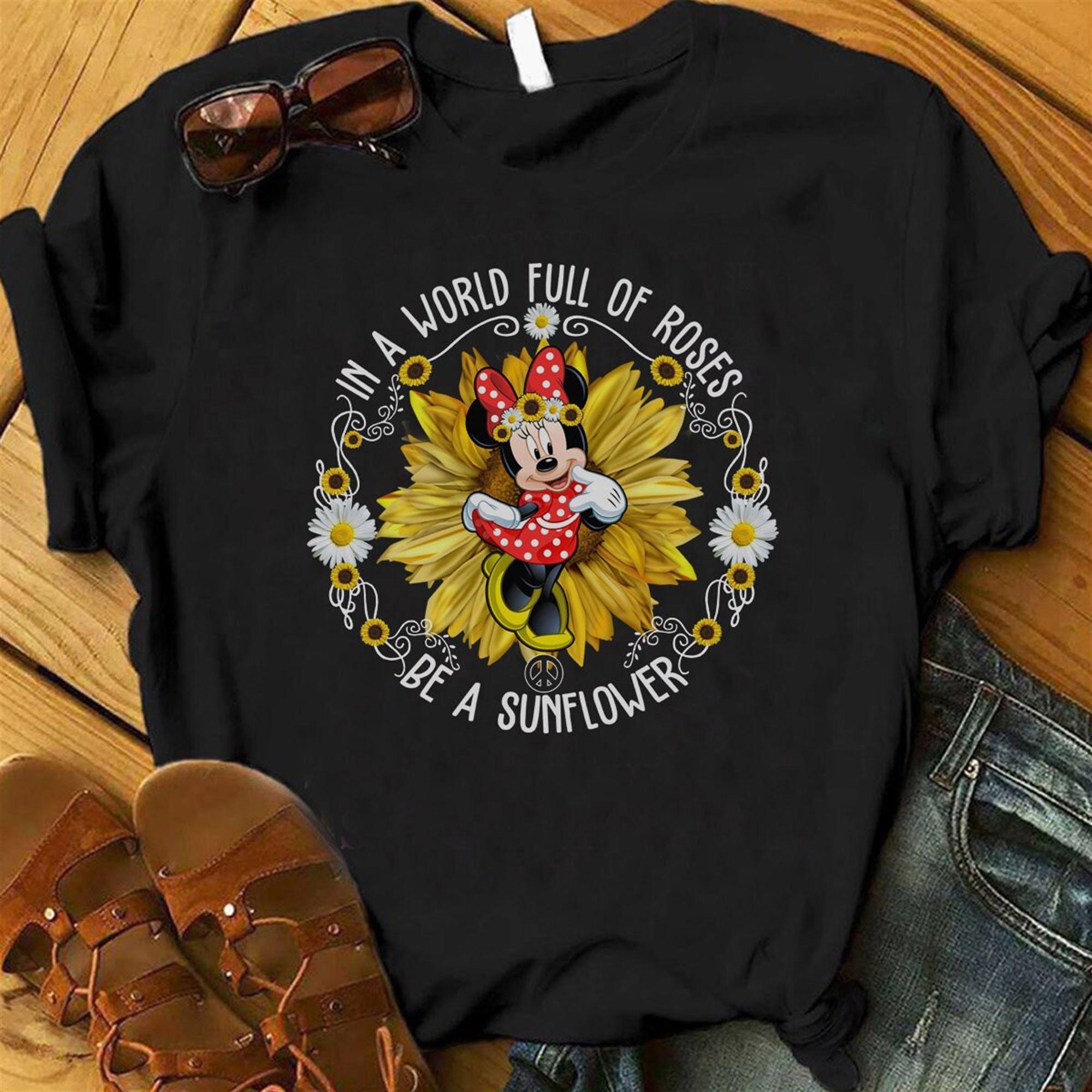 Be A Sunflower Shirt Minnie Shirt Minnie Ears Magical Vacation Disney Parks Sunflower Sunflower Minnie Shirt Epcot Flower And Garden Tee