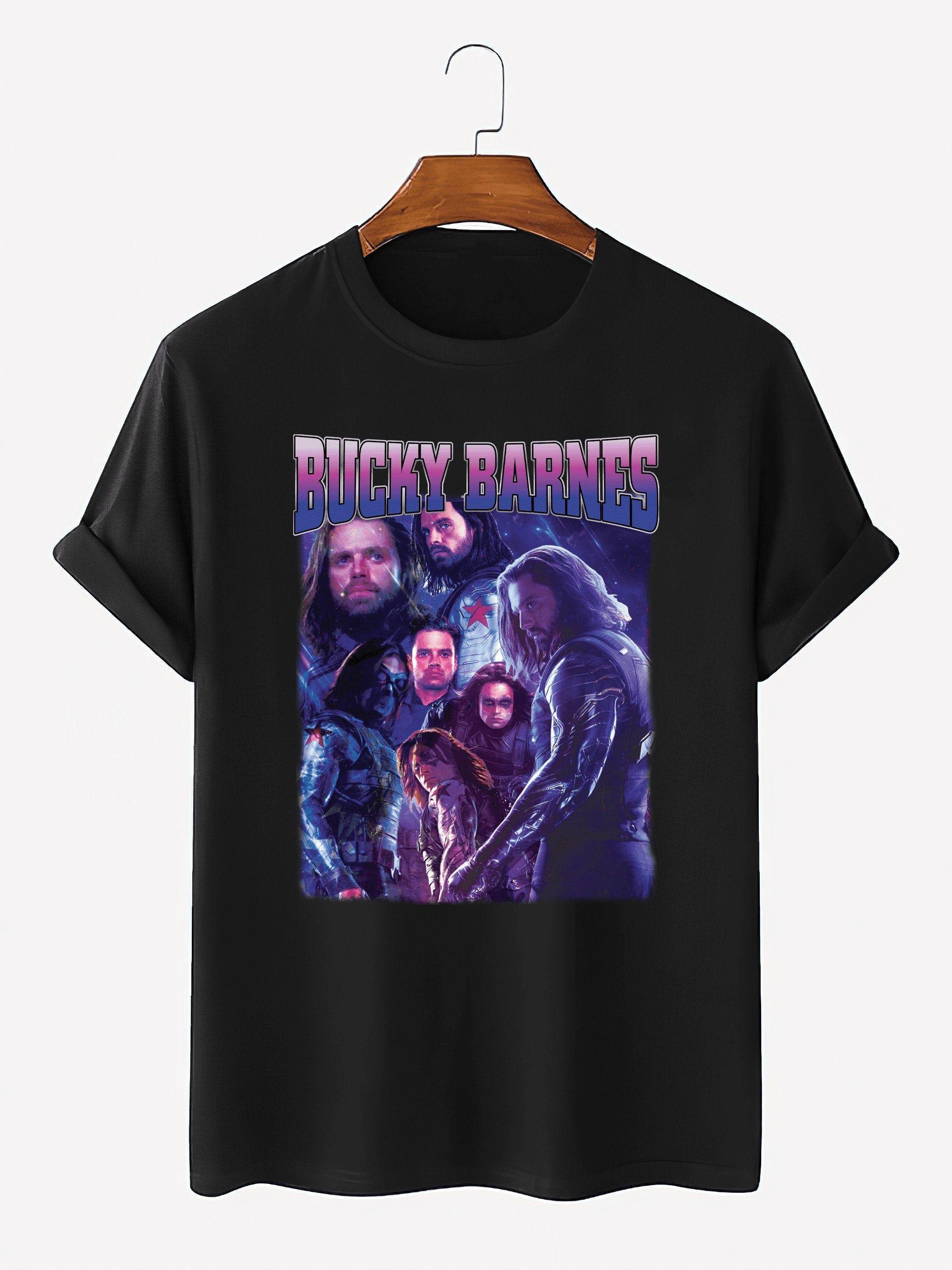 Bucky Barnes Vintage Retro 90s Tshirt The Falcon And Winter Soldier Homage T-shirt Soldier Homage Tv Series Sweatshirt Hoodie