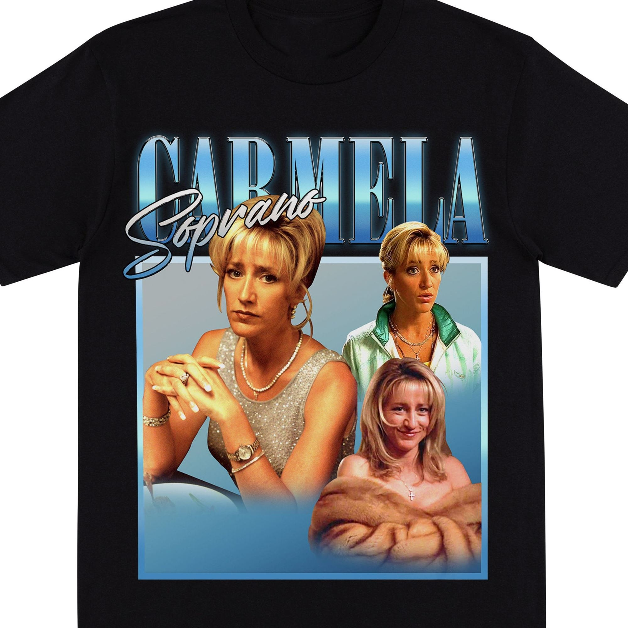 Carmela Soprano Homage T Shirt Carmela Soprano T Shirt Mafia Inspired Printed Shirt Italian American Fashion T Shirt