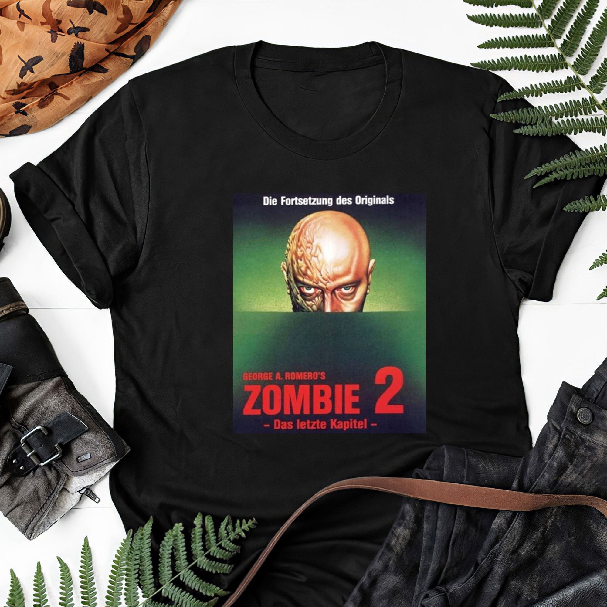 Day Of The Dead Movie Poster Horror Zombie 2 George Romero Gift Tee For Men Women Unisex T-shirt