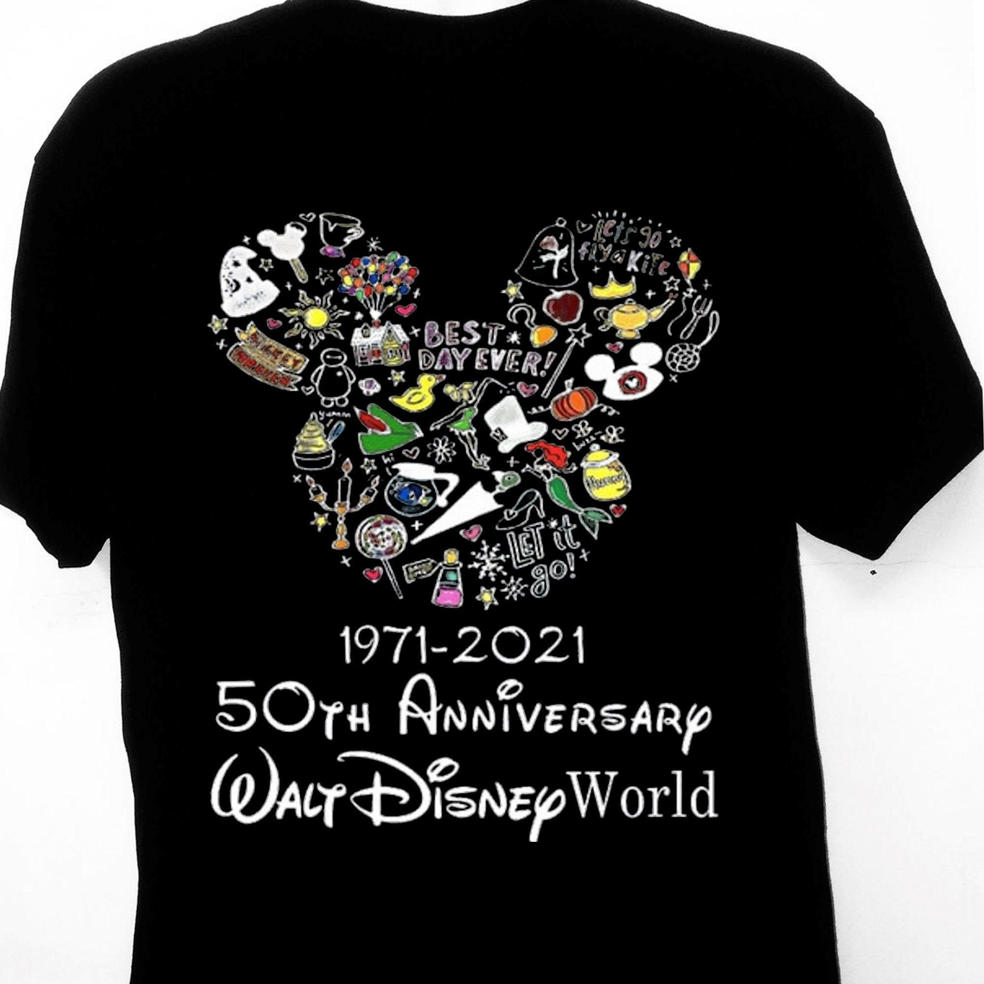 Mickey Mouse Walt Disney World 50th Anniversary 1971 2021 Shirt Minnie Mouse Gift Tee For Men Women Friends Unisex T-shirt