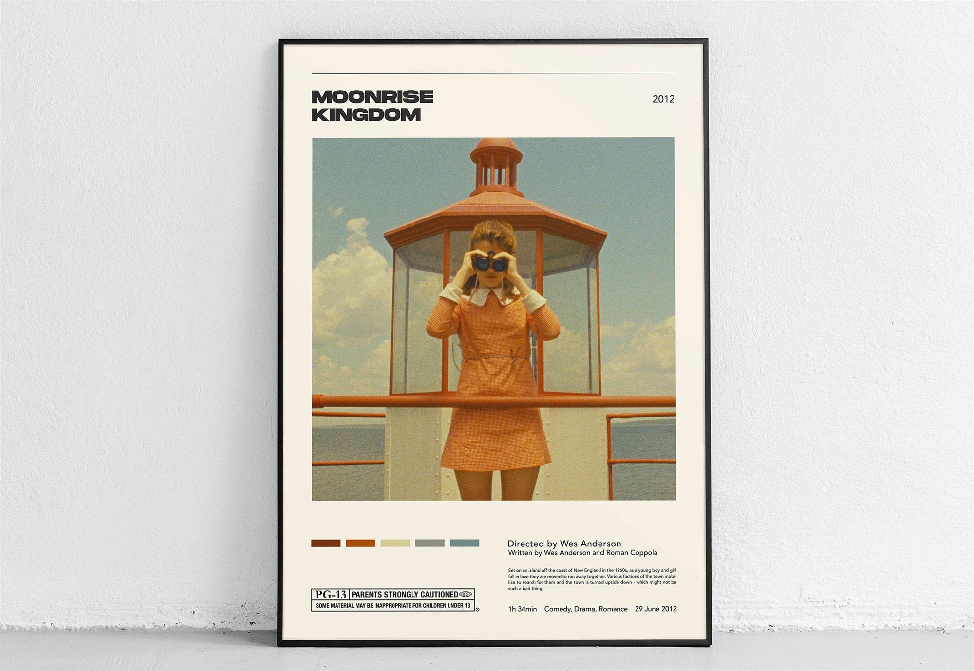 Moonrise Kingdom Wes Anderson Vintage Retro Art Print Movie Home Decor Poster Gift For Men Women