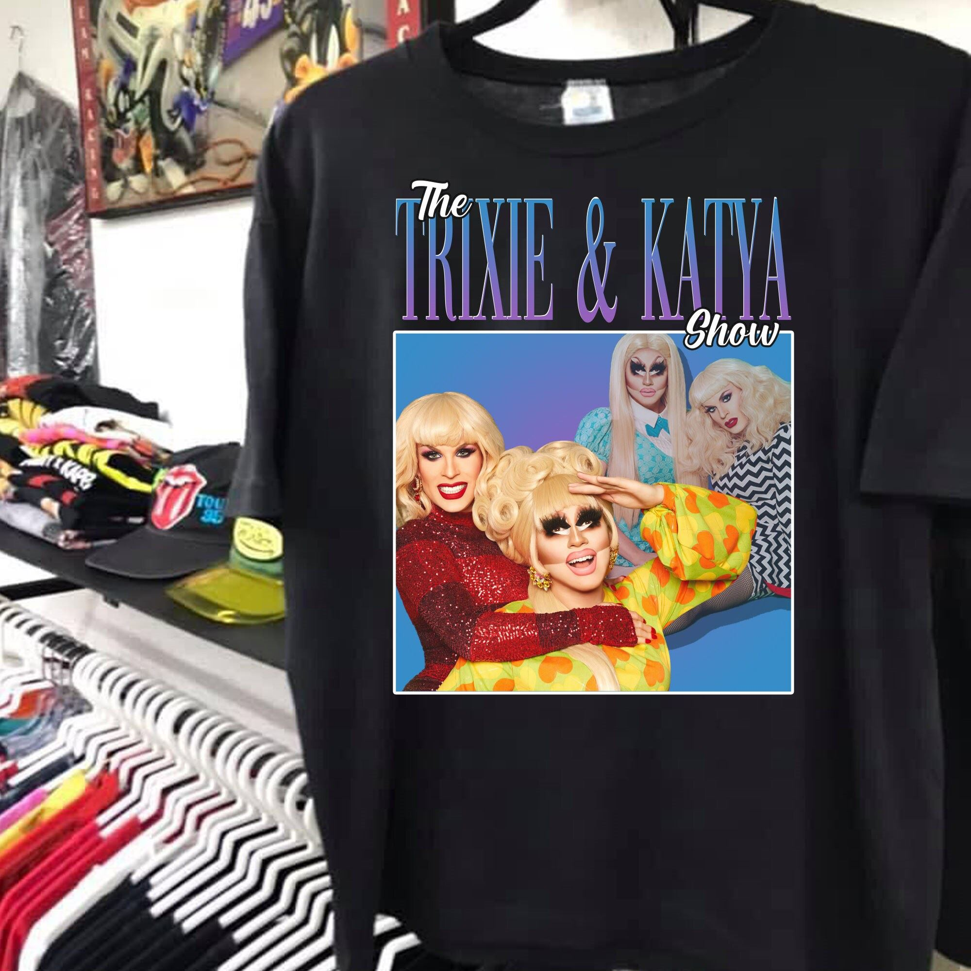 Vintage Trixie Katya 90s Retro Shirt Print Art Shirt Gift For Men Women Unisex T-shirt