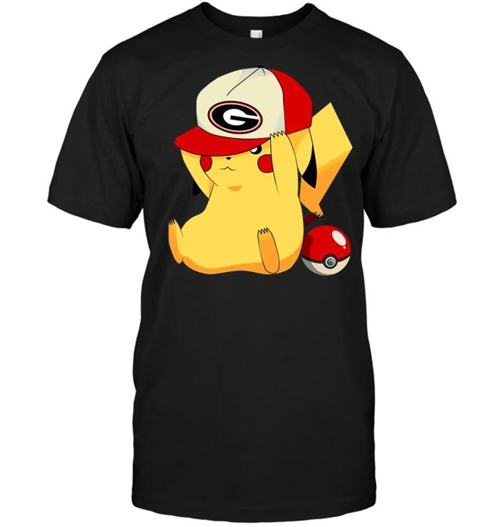 Georgia Bulldogs Pikachu Pokemon T-shirt