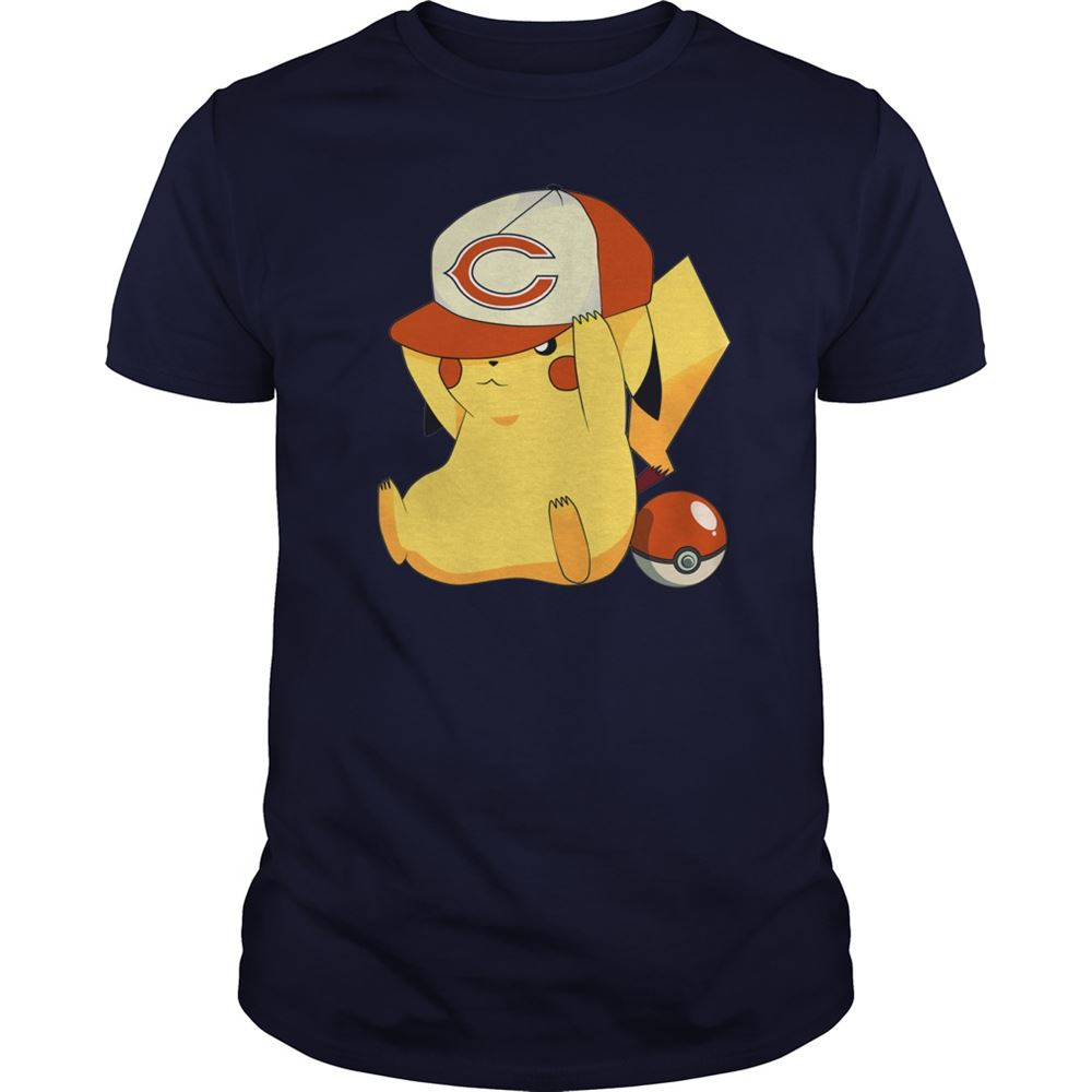 Chicago Bears Pikachu Pokemon Shirt