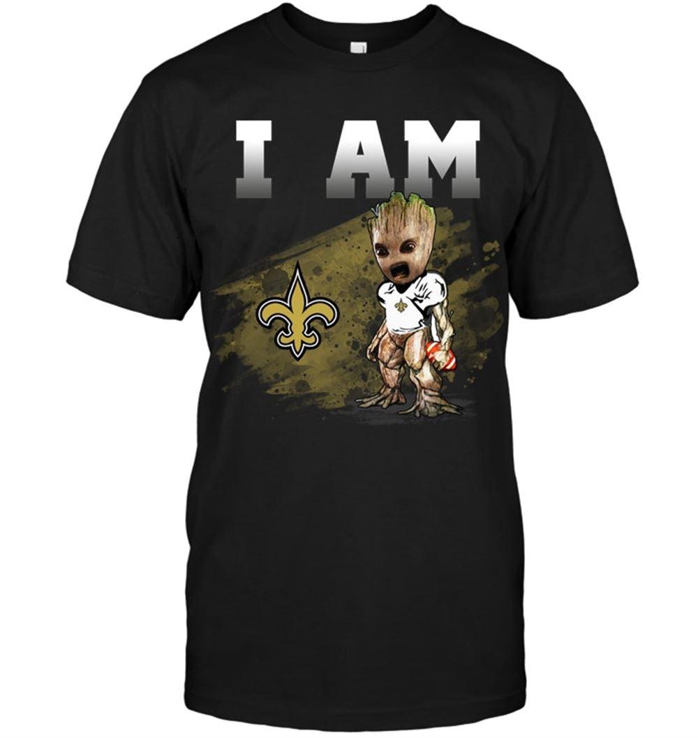 New Orleans Saints I Am Groot Shirt