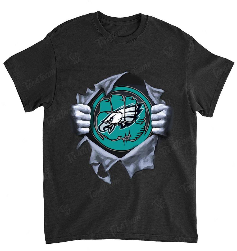 Nfl Philadelphia Eagles 073 Hulk Logo Dc Marvel Jersey Superhero Avenger Shirt
