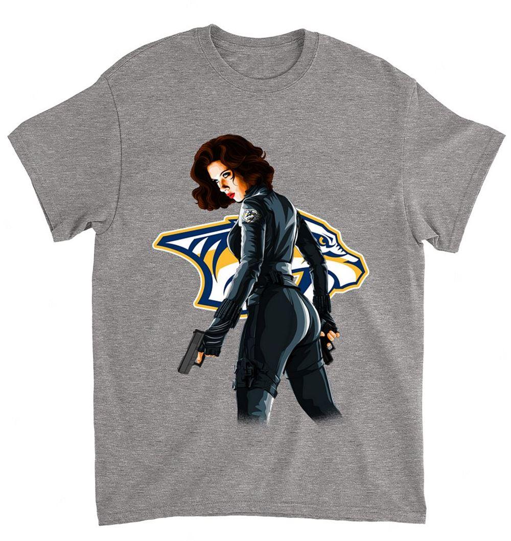 Nhl Nashville Predators 026 Blackwidow Dc Marvel Jersey Superhero Avenger Shirt