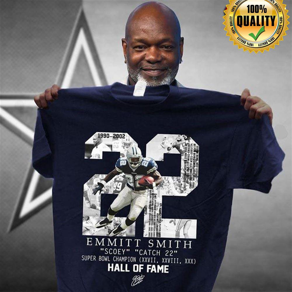 22 Emmitt Smith 1990-2002 Scoey Catch 22 Super Bowl Champion Hall Of Fame