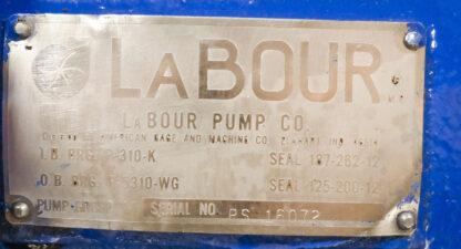 LaBour SS LV Centrifugal Pump ID Tag