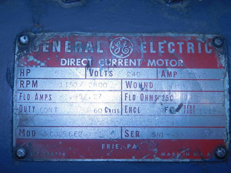 General Electric 5HP DC Motor 5CD256E2