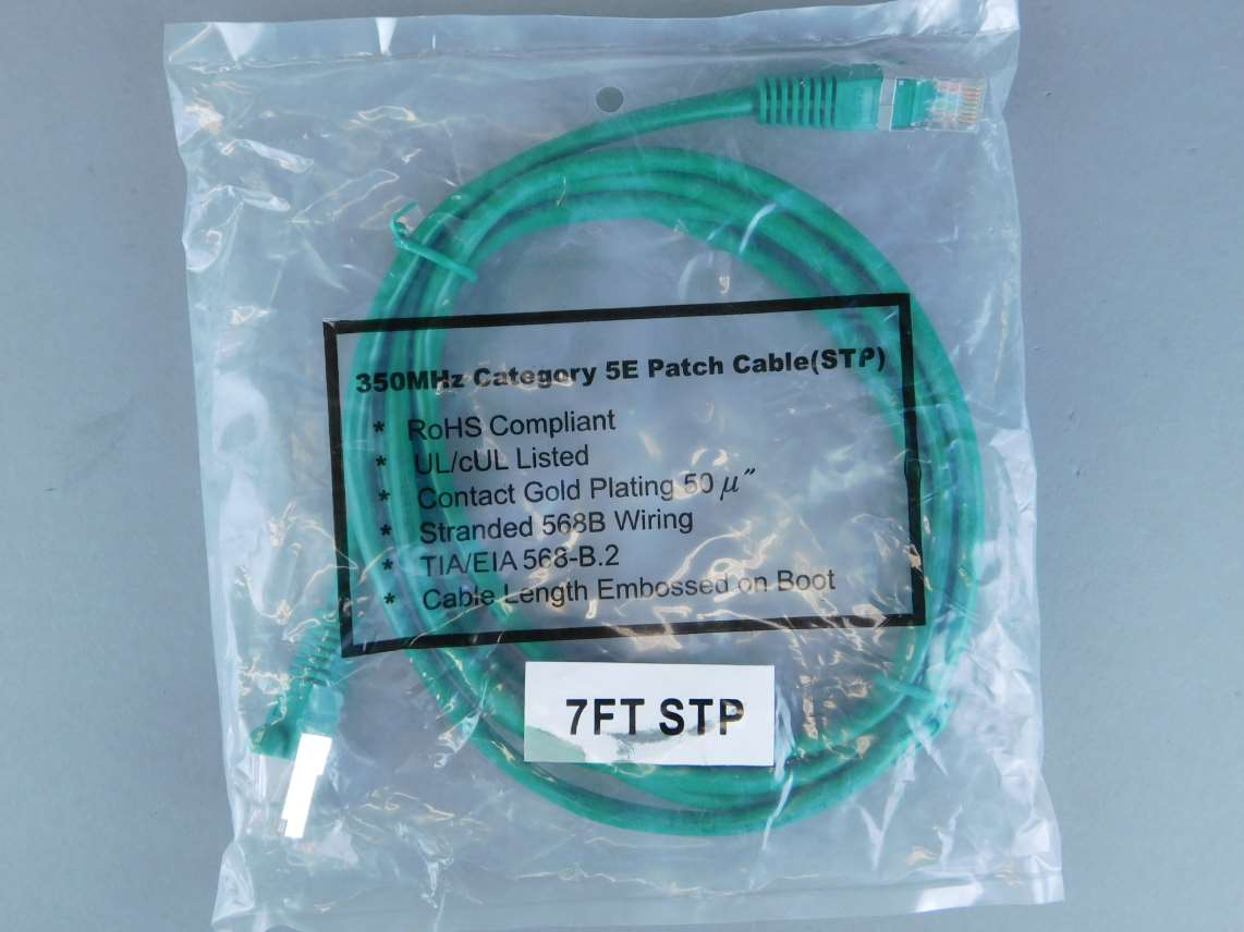 Firefold Green Cat5e Patch Cables Lot Of 2 Gpm Surplus Eia 568b Wiring