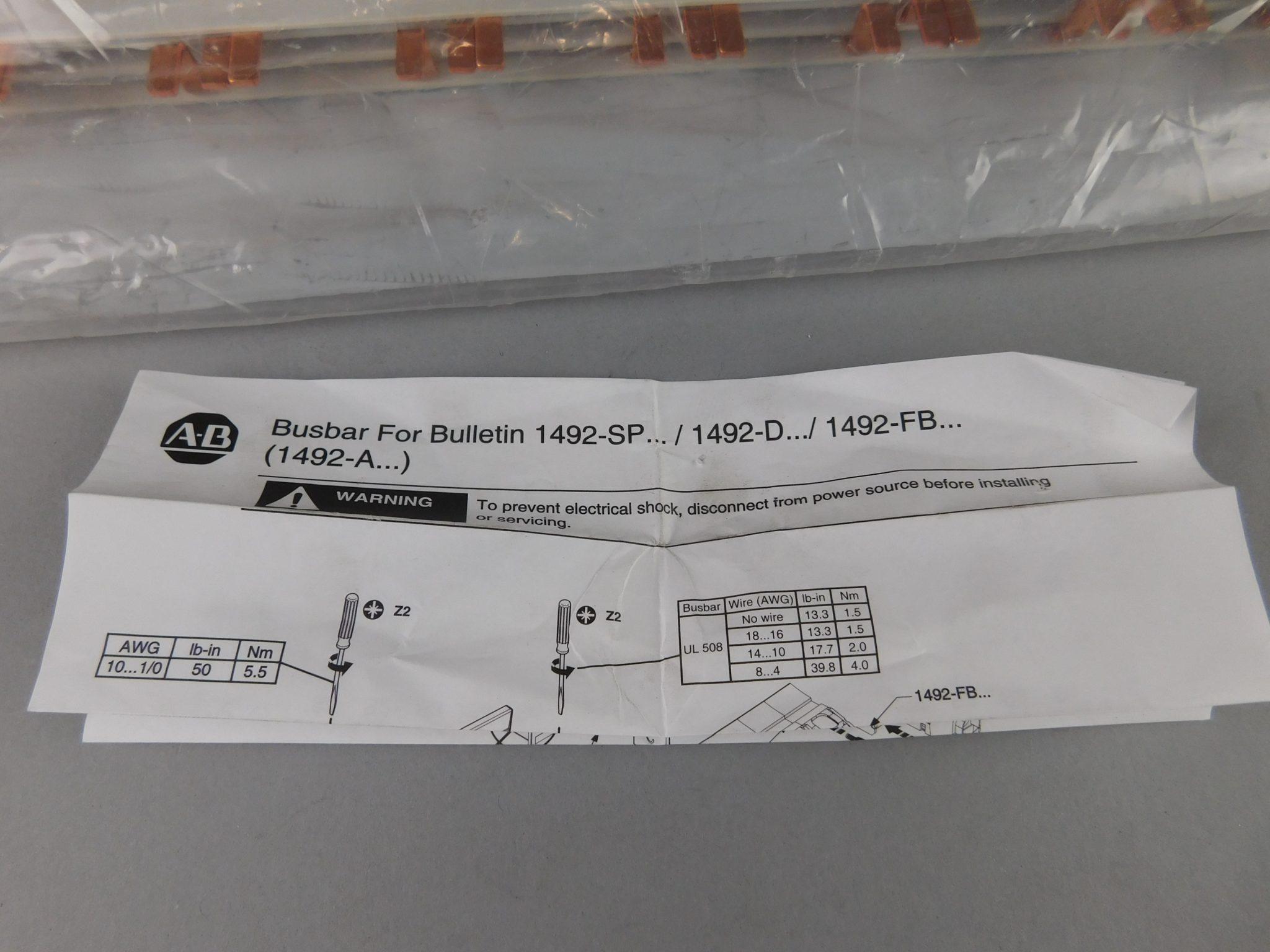 Allen-Bradley 100 A, 57 Pins, Busbar 1492-A3B1