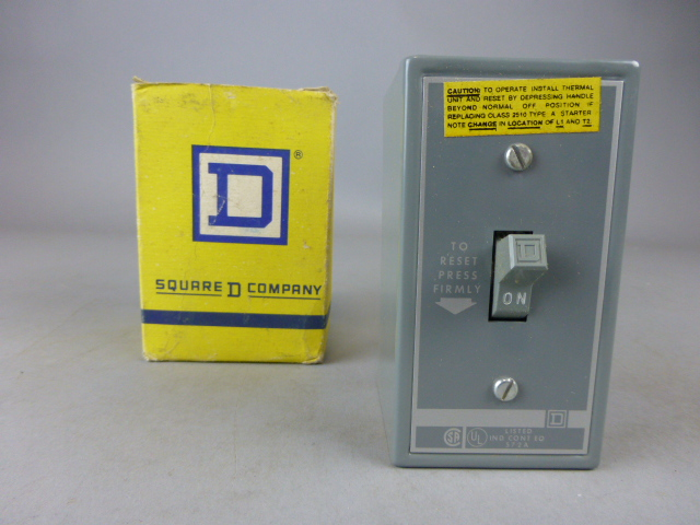 Square D 16A Toggle Manual Motor Starter Enclosure 2510 FG-1