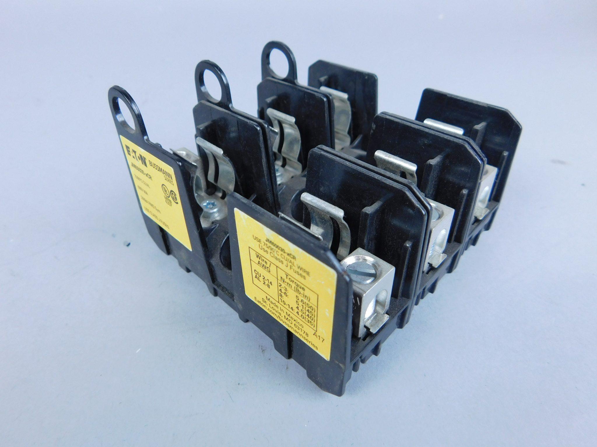 Eaton JM60030-xCR Edison Modular Fuse Block Bussmann Series 600V-30A on