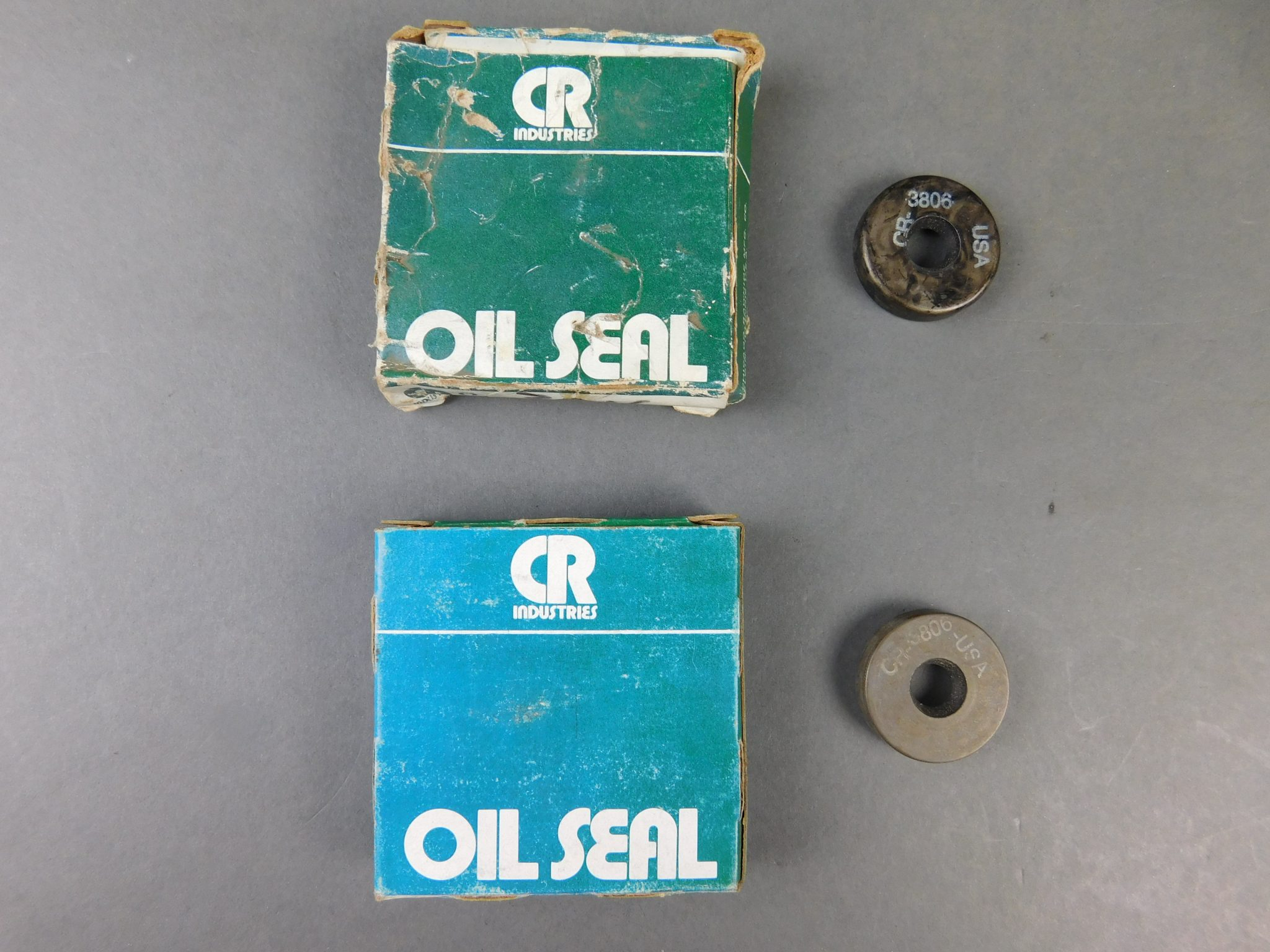 *Lot of 2* Chicago Rawhide 3806 Oil Seals, 1-1/8