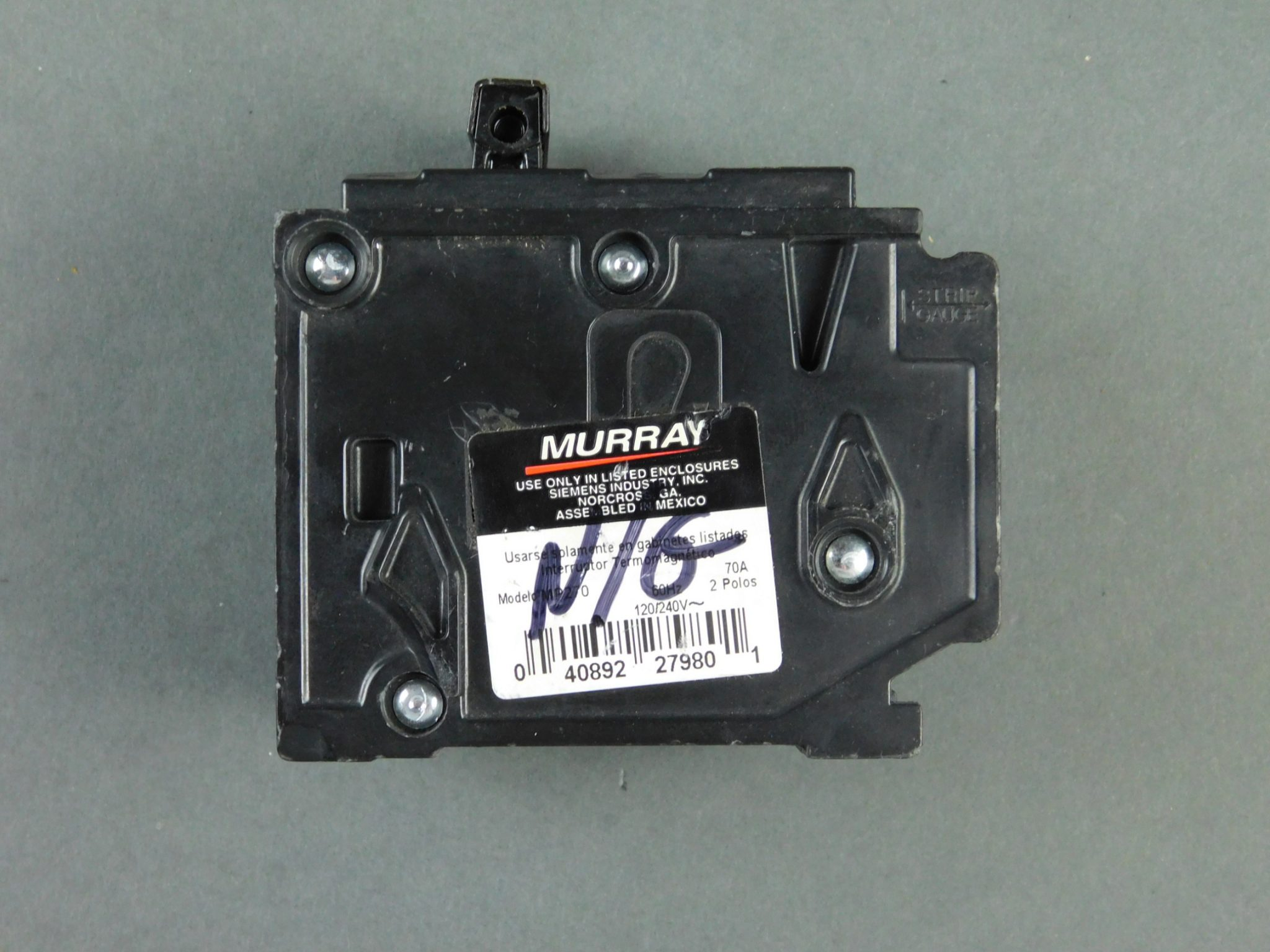 Murray MP270 70A Circuit Breaker, 2P 70 AMP 120/240V