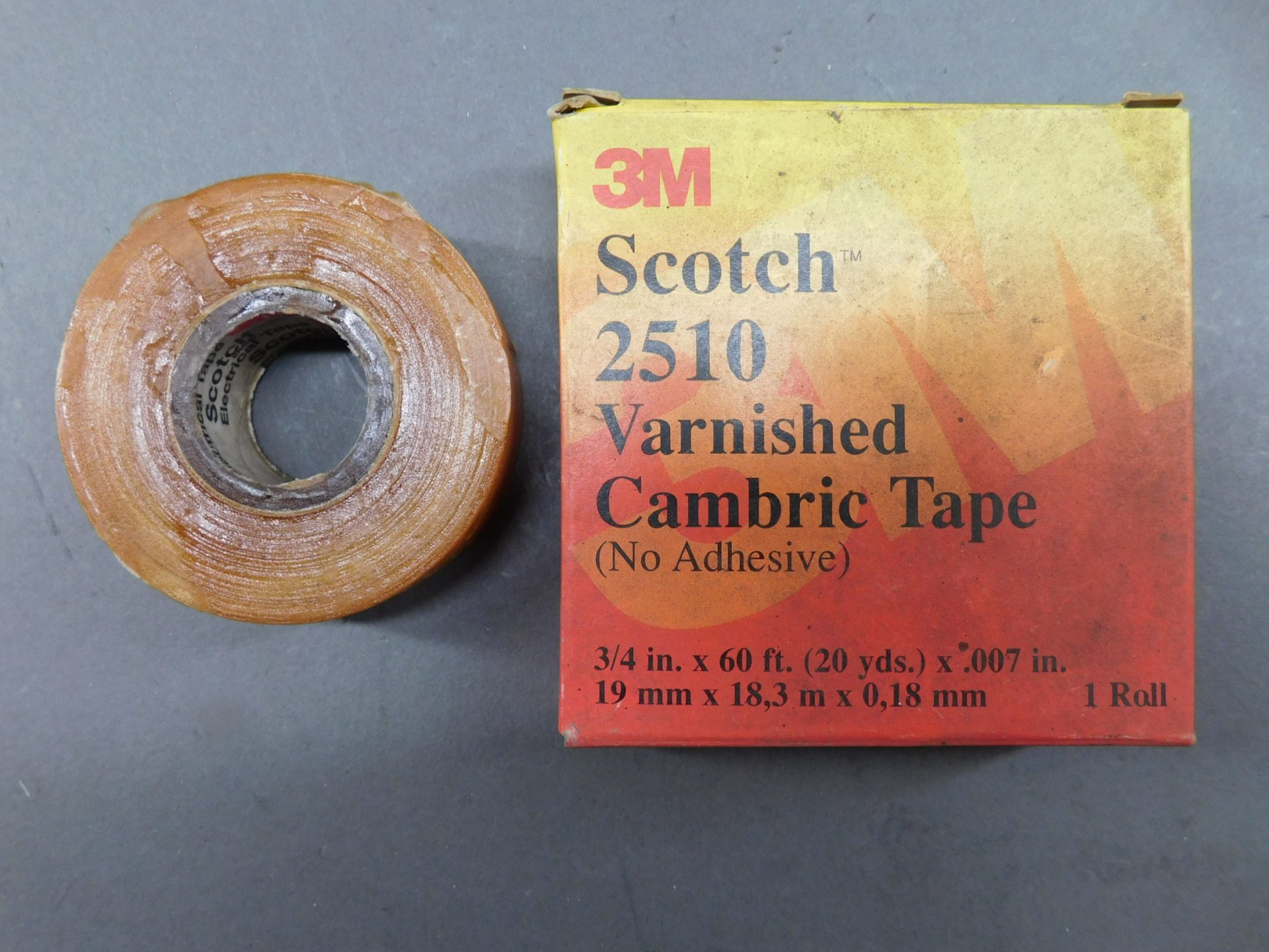 3//4 in x 60 ft Scotch Varnished Cambric Tape 2510