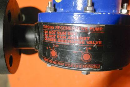 Caster WMT5002 Regenerative Turbine Pump ID Tag