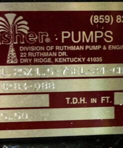 Gusher 7550 Pump ID Tag