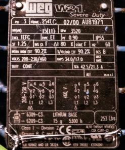 APV W+ Sanitary Centrifugal Pump Package ID Tag 2