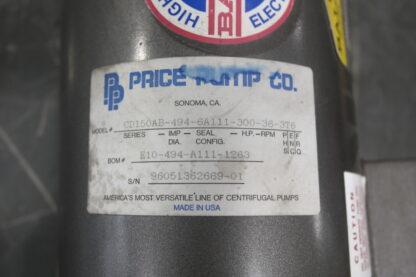 Price CD150 Bronze Pump ID Tag