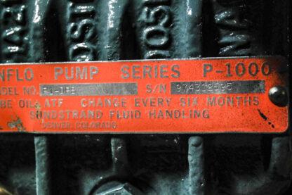 Sundyne Sunflo P-1500 High Pressure Centrifugal Pump ID TAG